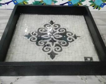 Mosaic, mosaic wall art, marble mosaic, mosaic tray