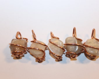 moonstone & recycled copper -