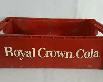 Royal Crown Cola Plastic Carrying Crate Soda Crate
