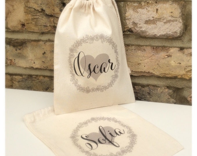 Personalised gift bag | Thank you gift | keepsake bag | Bridesmaid | Flower girl | Maid of honour | Drawstring pouch | Tote bag.