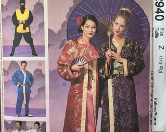 Mcccll's Sewing Pattern 2940 Misses/mens/boys Large extra large Karate, Geisha, Ninja Costume