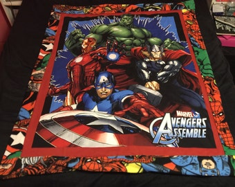 Reversible comics blanket