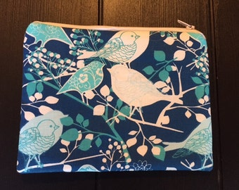 Turquoise Bird Pouch