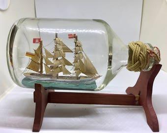 Antique Gorsch Fock ship in a bottle