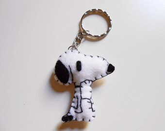 Felt thinking Snoopy keychain or ornament - Charlie Brown - Peanuts