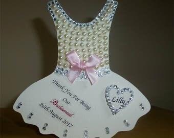 Decorated Standing MDF Personalised Tutu Dress Bridesmaid/Birthday Gift