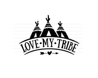 Love my tribe decal, blessed momma decal, mom decal, vinyl decal, country mom, coffee cup decal, car decal, iPhone decal, Yeti decal