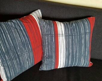 Cushion fabric pillow. Cushion cover with zipper. Design Göta Trägårdh