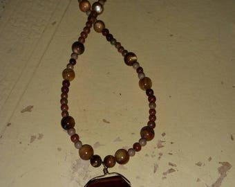 Natural semi precious stone necklace