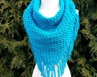 Crochet triangle scarf wrap shawl