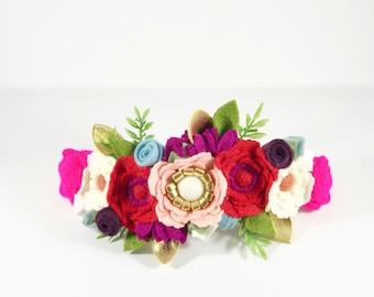 Be Mine // Felt flower crown // Valentines