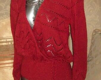 A ladies handknitted jumper/ cardigan