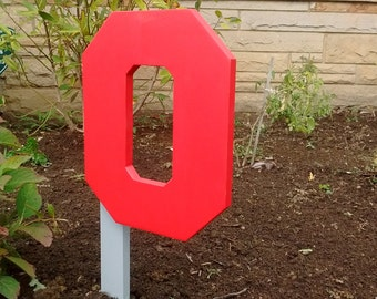 """Block """"O"""" garden sign"""
