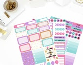 Celebration Weekly Kit Stickers! Perfect for your Erin Condren Life Planner, calendar, Paper Plum, Filofax!
