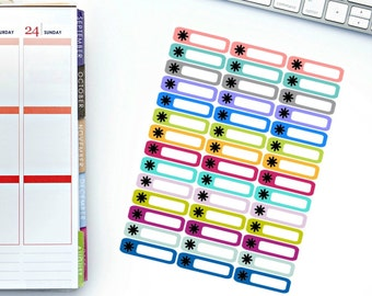 Asterick Mini Label Stickers! Perfect for your Erin Condren Life Planner, calendar, Paper Plum, Filofax!