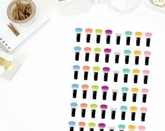 Make Up Brush Stickers! Perfect for your Erin Condren Life Planner, calendar, Paper Plum, Filofax!