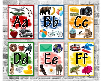 Alphabet Posters / Preschool Classroom / Kindergarten Posters / Back to School / Classroom Posters / Teaching Tools / Printable Flashcards