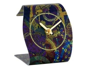T6 Gold Palm Clock