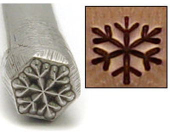 Snowflake Metal Design Stamp 5mm - Metal Stamping / Punch Tools for Metal Stamped DIY Jewelry, Jewelry Making Tools (DS089)