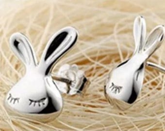 Cute Girls Rabbit Stud Earrings