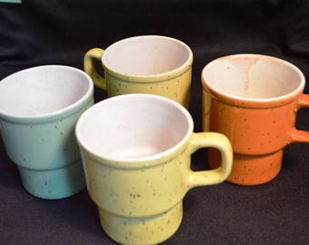 Stoneware Mugs, stackable, Made in Japan