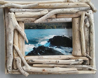 driftwood frame 5x7 picture frame unique photo frame driftwood beach decor standing photo frame coastal home decor rustic wooden frame