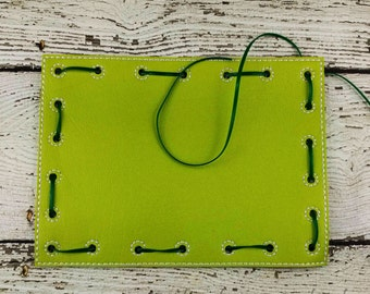READY TO SHIP Rectangle Lacing Card, Quiet Game, Toddler Toy, Travel Toy, Party Favor