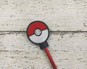 Poke Ball Pencil Toppers - Pokemon Inspired - Party Favor - Valentine - Small Gift - Back to School