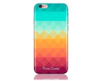 iPhone 7 Case #Pixel Waves Cool Design Hard Phone Case