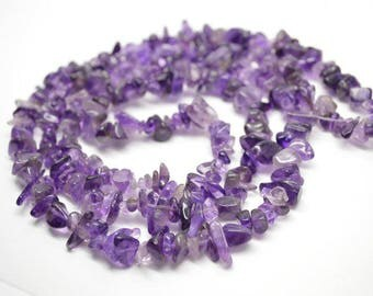 "1 strand 32"" length Natural Amethyst Stone Chips Loose Beads High Quality Jewelry making materials"