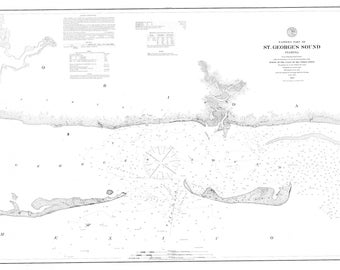 Apalachee Bay Map & St. Georges Sound Map (B+W)