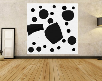 Large Abstract Painting - MINIMALIST PAINTING - Black White Painting - contemporary art - Modern Art Abstract - Giant Painting Huge Gigantic