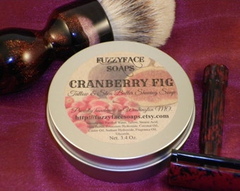 CRANBERRY FIG Luxury Tallow & Shea Butter Shaving Soap