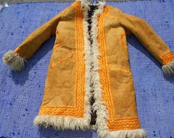 True Genuine Afghan  Vintage coat so Beautiful Handmade