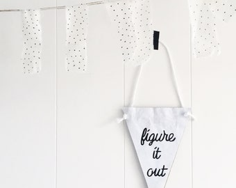 Figure it out / paper banner