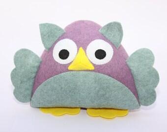 Owl Bookends, Owl Doorstop, Fabric Doorstop, Animal Bookends, Childrens Bookends, Felt Doorstop, Animal Doorstop, Handmade Doorstops