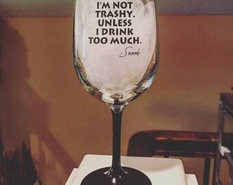 Snooki Wine Glass Funny Wine Glass