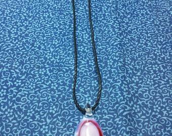 Handblown Glass Pendant Necklace