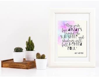 Sunshine // Walt Whitman // Nursery // Art Print