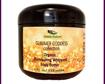 Organic Body Shimmer Lotion - Glitter Lotion - Shimmer Lotion - Organic Body Butter - Body Butter - Natural Skin Care - Bath and Body