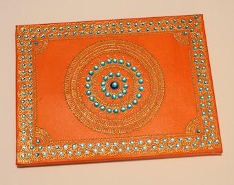Orange and Gold Canvas