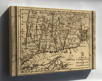 Canvas 24x36; Map Connecticut Rhode Island Long Island Snd 1776
