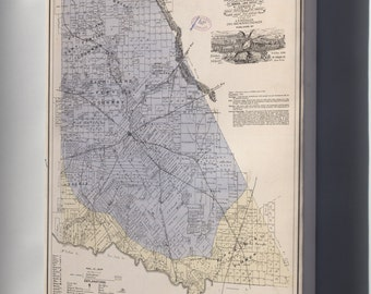 Canvas 24x36; Map Of Brown Co., State Of Texas 1876