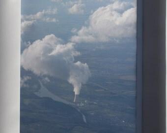 Canvas 24x36; Isar Kernkraftwerk Nuclear Power Plant