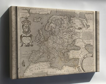 Canvas 16x24; Map Of Europe 1600 In Latin