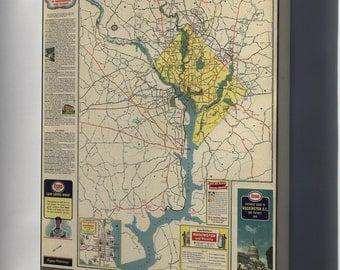Canvas 16x24; Map Of Washington Dc & Vicinity  1942 P2