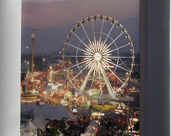 Canvas 16x24; Los Angeles County Fair At Dusk #031715