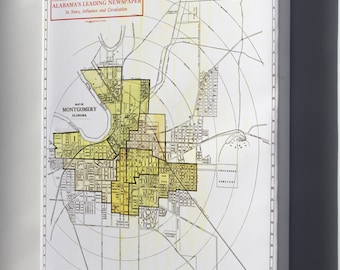 Canvas 16x24; 1910 Map Of Montgomery, Alabama.Jpeg_Files
