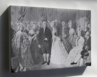 Canvas 16x24; Benjamin Franklin At The Court Of France