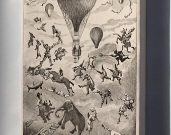 Canvas 16x24; Ad For Hot Air Balloon Manufacturer Henri Lachambre C1875